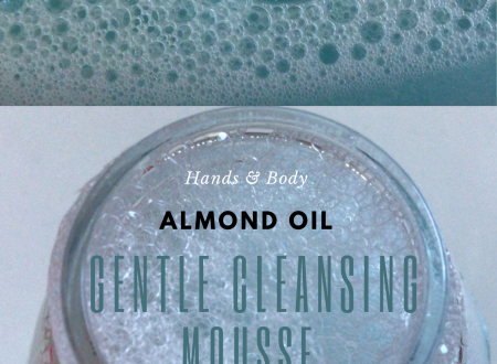 DIY Almond Oil – Gentle Cleasing Mousse – hands & body